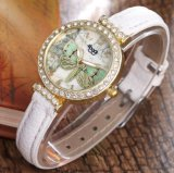 OEM het Horloge van de Dames van de Manier van het Horloge van de Riem van de Horloges van de Diamant