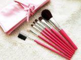 ピンクのブラシの構成の化粧品7 PCSの良質の構成のブラシセット
