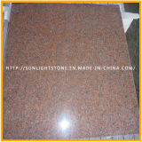 Azulejos de suelo de piedra rojos naturales del granito de China para la cocina/el cuarto de baño