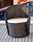 Chaise pivotante de rotin et meubles extérieurs de jardin de Tableau de rotin
