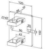 Wand-Halter für Edelstahl-Baluster und Geländer