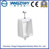 Urinal en céramique fixé au mur normal