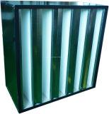 V-Tipo filtro de la alta capacidad de aire del compacto para la filtración industrial del aire
