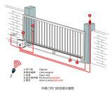 Portas de madeira chinesas da garagem das portas deslizantes de boa qualidade com o operador Pedestrian da porta