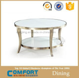 Table basse ronde de vente de modèle moderne de meubles chauds d'or