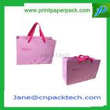 習慣によって印刷される服装のショッピング・バッグのハンドバッグのペーパーギフト袋