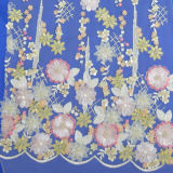 1.35幅の広州、中国の多色刷り3D花の結婚式のレースの工場