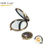 Espelho Pocket barato do metal/espelho relativo à promoção do cosmético do presente