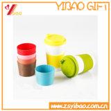 Insieme su ordinazione della tazza del silicone di marchio di vendita calda