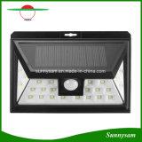 24 LED-im Freien Solarbewegungs-Fühler-Lichter mit 3 LED auf beide Seiten-breiter Fühler-Winkel-drahtlosem wasserdichtem an der Wand befestigtem Licht für Patio, Plattform, Yard, Garten