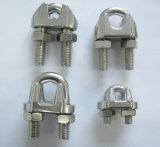 Type clip de l'acier inoxydable JIS de matériel de calage de câble métallique