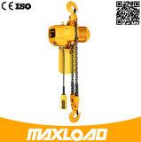 alzamiento de cadena eléctrico 380V de 5t los 5m con el gancho de leva