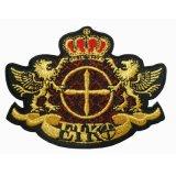 Distintivi militari reali della giacca sportiva dell'esercito britannico del ricamo