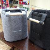 Bolso de mano portable promocional del fieltro del barril para instalar pequeños items