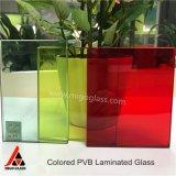 중국 4+4 5+5 6+6 착색된 PVB 필름 박판으로 만들어진 유리