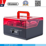 Novo bloqueio acrílico 6 compartimentos ajustáveis Seal Box for Storage