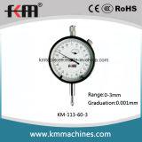 датчик индикатора с круговой шкалой микрона 0-3mmx0.001mm