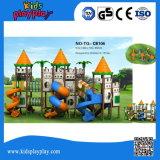 2016 equipamento ao ar livre plástico popular do campo de jogos da série LLDPE do castelo