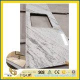 Countertop камня гранита реки белый для ванной комнаты гостиницы, конструкции кухни