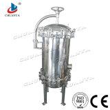 Cárter del filtro multi modificado para requisitos particulares industrial del cartucho del acero inoxidable del purificador del agua del RO