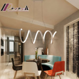 De spiraalvormige Nieuwe Witte Lamp van de Tegenhanger van het Aluminium voor Eetkamer