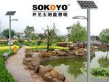 Lumière solaire approuvée de jardin de la certification 15W de la CE avec 3.5m Polonais