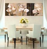 3 stuk Heet verkoop het Moderne Beeld van de Kunst van de Muur van het Huis van het Muurschilderij Decoratieve die op de Bloemen van het Canvas wordt geschilderd Schilderend met Frame mc-198