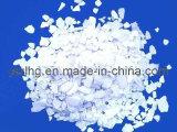 Escamas del cloruro de calcio, CaCl2, cloruro de calcio