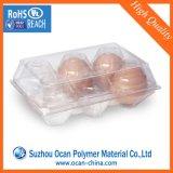 rolo rígido do PVC do espaço livre de 0.25mm para o vácuo que dá forma à bandeja do ovo