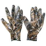 Связанная полиэфиром перчатка работы с окунать нитрила (N1561-4)