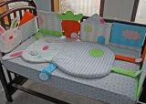 Lecho 100% del bebé del algodón de la fabricación de China