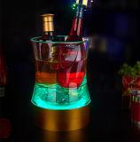 Cubeta de gelo acrílica luminosa Shaped do diodo emissor de luz da cintura creativa da barra KTV