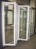 Aluminio plegable puertas de plegamiento Puerta-PVC