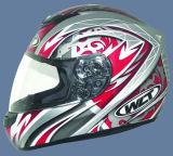 Volledige Helm (101-Silver&Red)