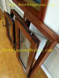 Laminado doble / triple vidrio templado ventana deslizante, Madera Color Acabado de aluminio ventana deslizante para House