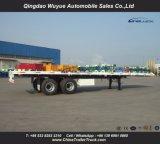 2 Axles 40FT плоской кровати контейнера тележка трейлера Semi