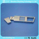 금속 Keychain 로고 (ZYF1521)를 가진 수정같은 USB 섬광 드라이브