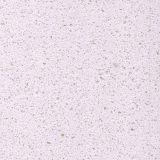Pedra artificial branca de quartzo da grão fina do diamante Polished