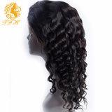 7A黒人女性のブラジルの自然で緩い巻き毛の前部レースのかつらのための完全なレースの人間の毛髪のかつら250%の密度のレースの前部人間の毛髪のかつら