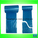 HDPE Abfall-Beutel-Wegwerfbeutel mit Papierkennsatz