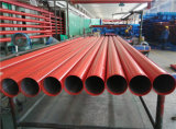 Extremidade do meio Groove Red Painted Fire Fighting Sprinkler Steel Pipe