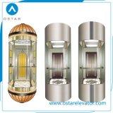 Cabina de visita turístico de excursión de cristal Shaped redonda de la elevación para el elevador de la observación (OS41)