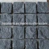 自然なBlack Basalt Cobblestone、テラスのための非SLIP Cube Stone Paver