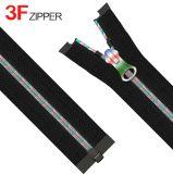 3# Zipper de nylon con Colorful Core y Puller