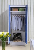 Ikea Style High Gloss Blue Kids Wardrobe Dresser Bedroom Set