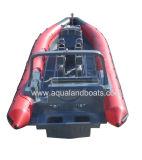 Bateau gonflable rigide de côte de bateau/fibre de verre de pêche d'Aqualand 33feet 10m (RIB1050)