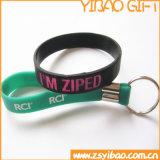 Wristband su ordinazione dell'anello chiave del silicone di marchio per i regali di promozione (YB-SW-32)
