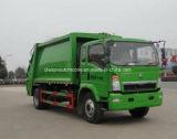 Sinotruk 트럭 5 톤 쓰레기 압축 분쇄기 쓰레기 트럭 HOWO 5 Cbm 졸작 수송