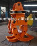 La rotación hidráulica 360 ataca para el gancho agarrador giratorio de la madera del excavador
