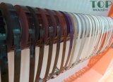 Bordure foncée de PVC de bonne qualité procurable dans différentes couleurs
